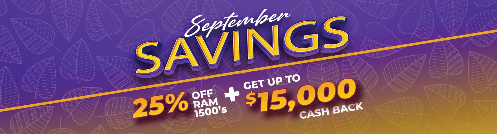 September Savings at Airdrie Chrysler Dodge Jeep Ram in 139 East Lake Crescent