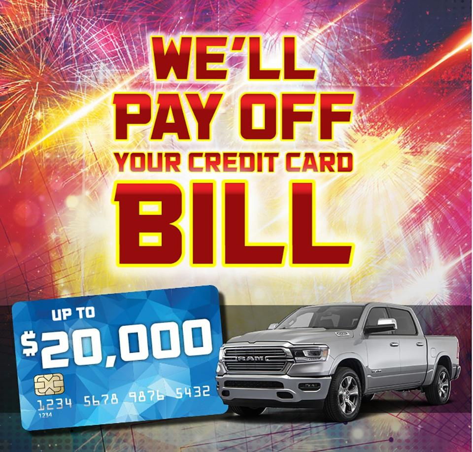 We Will Pay Off Your Credit Card