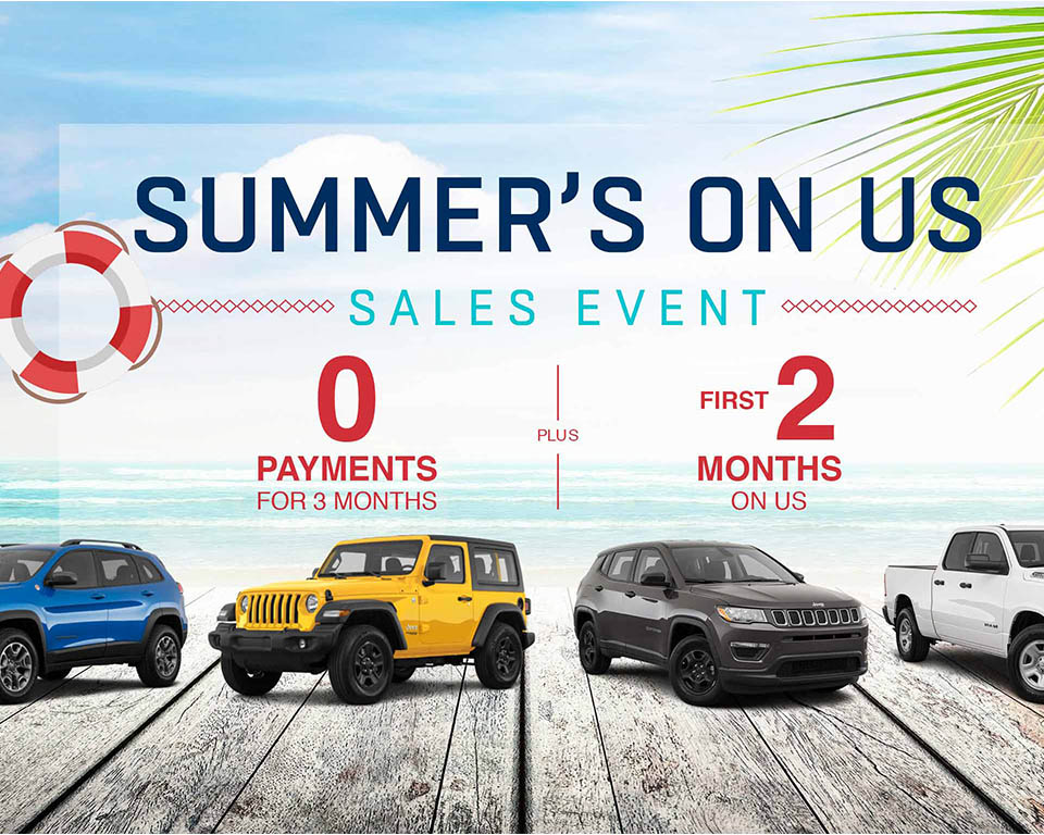 Summer's On Us Sales Event
