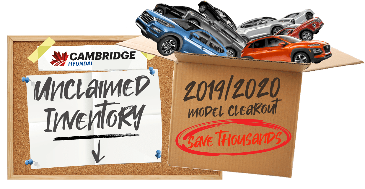Unclaimed Inventory Clearout Cambridge Hyundai in 1962 EAGLE ST N