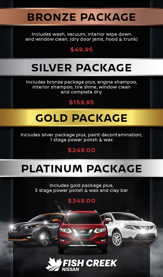 Full Detail Packages at Fish Creek Nissan