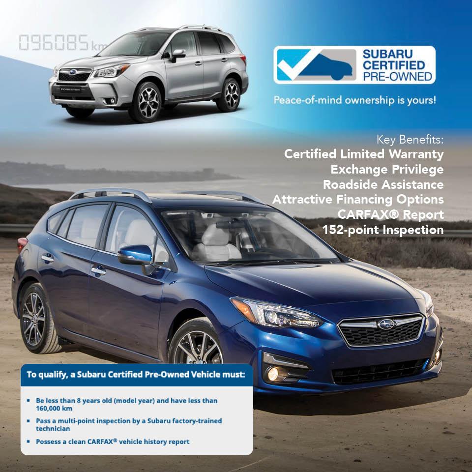 Certified Vehicles at Grande Prairie Subaru in Grande Prairie, AB