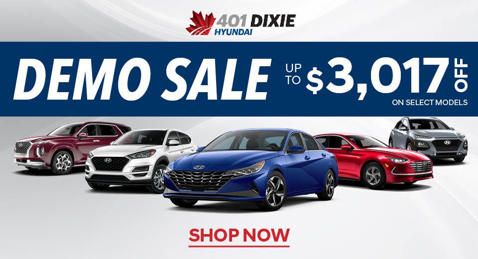 401 Dixie Hyundai Demo Sale
